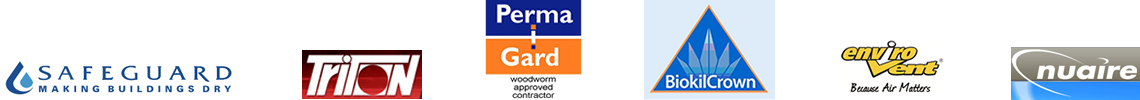 Damp Proofing & Timber Treatment Worcs Staffs West Mids - Supplier Logos